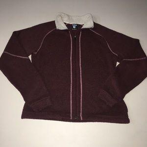 Kuhl Alfpaca Fleece Zip Up Jacket Maroon Medium